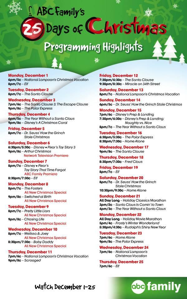 25 days of christmas - Countdown To Christmas 2015